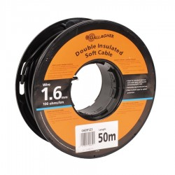 Câble de terre 1,6mm souple, rouleau de 50m, 100 Ohm/1km Mise à la terre