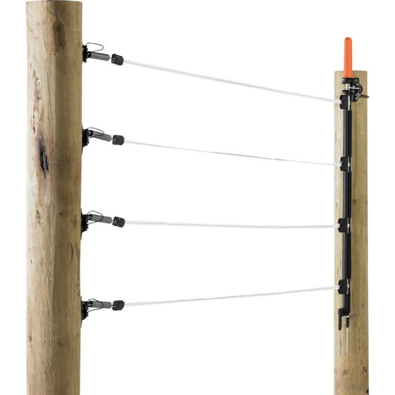 Kit Barrière 4 Rubans 12,5mm blanc, 6m Portes de clôtures